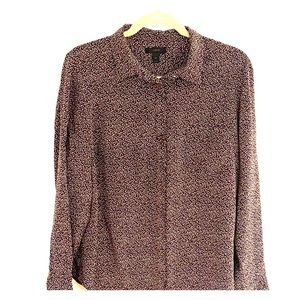 J. Crew 100% Silk l/s button up in Party Dot